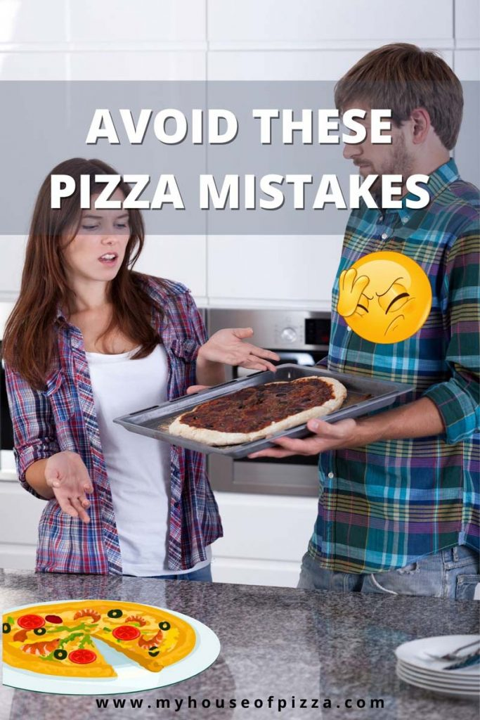 avoid this pizza making mistakes pinterest graphic